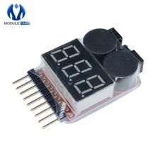 1-8S Lipo Li-Ion Fe напряжение батареи 2в1 индикатор тестер низкого напряжения Звуковой сигнал для RC автомобиля лодки СВЕТОДИОДНЫЙ 3,7-30 в двойной динамик