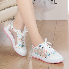 2016 spring and summer sweet woman fashion breathable mesh shoes comfortable flat shoes woman student girls shoes free shipping