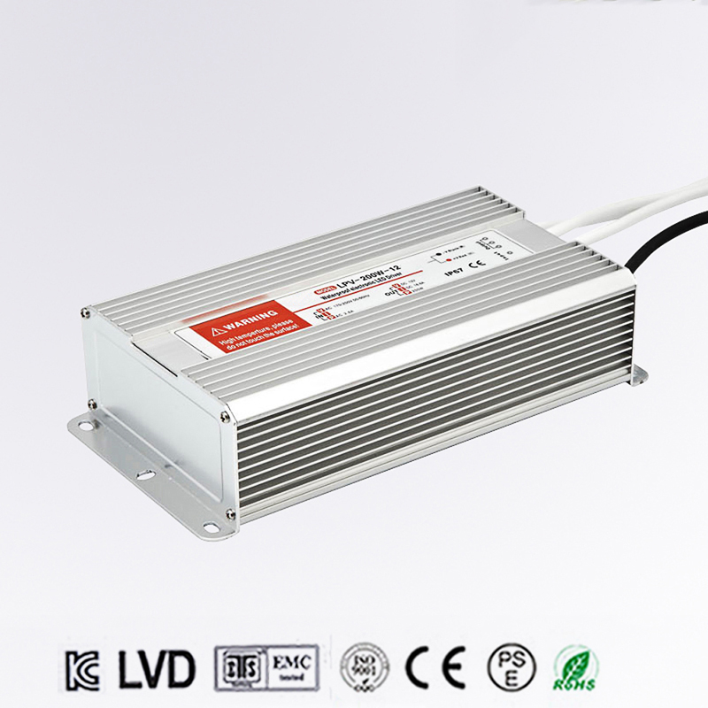 LED Driver Power Supply Lighting Transformer Waterproof IP67 Input AC170-250V DC 12V 250W Adapter for LED Strip LD504