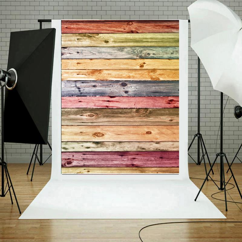 Colorful Wood Grain Photo Backgrounds Cloth Photographic