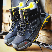 LARNMERN Stylish Mens Steel Toe Cap Work Shoes Anti puncture Outdoor Construction Protective Boots Anti static