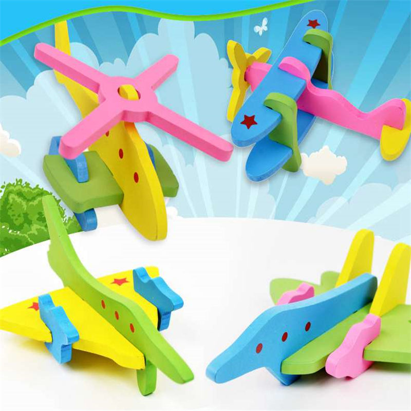 Model Building Sea gull airplane Block WoodenToys Building Blocks Bricks Children  Educational Puzzle Kits Model for Kids Gift