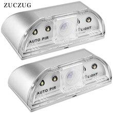 JXSFLYE Keyhole Light, PIR Infrared IR Wireless Door Lock Lamp, Auto Motion Sensor Detector, 4 LED Bulbs(2 PACKS)