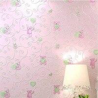 YOUMAN Modern 3D Embossed Wallpaper Rolls For Children Bedroom Living Room Wall Kids Baby Room 3d