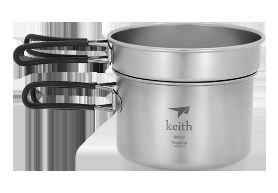 Keith Multi-use Lightweight Titanium Pot Camping Picnic Cookware Titanium Tableware 168g KP6012 for camping traveling hunting keith kp6012 titanium pot