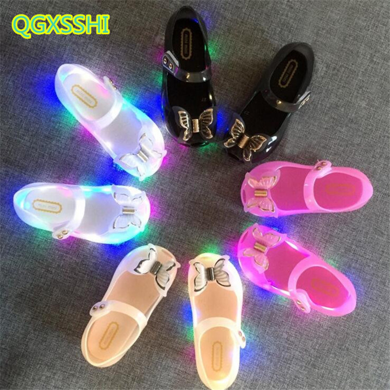 QGXSSHI 2019 Summer Led kids Shoes Fashion Baby Girls Bow Princess Sandals Baby fish mouth jelly mini Children PVC sneakers 2QGXSSHI 2019 Summer Led kids Shoes Fashion Baby Girls Bow Princess Sandals Baby fish mouth jelly mini Children PVC sneakers 2