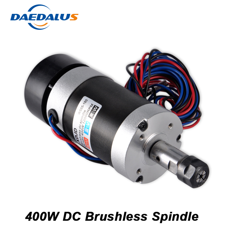 CNC Spindle 400W Brushless DC Spindle Motor ER11 55MM Air Cooled Router Spindle For Milling MachineCNC Spindle 400W Brushless DC Spindle Motor ER11 55MM Air Cooled Router Spindle For Milling Machine