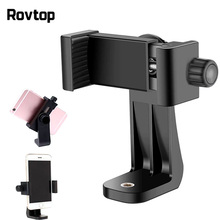Rovtop Universal Phone Tripod Mount Adapter Rotatable Digtal Camera Bracket Cell Phone Clipper Holder Vertical Tripod Stand