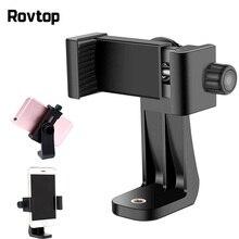 Rovtop evrensel telefon Tripod mesnet adaptörü dönebilen dijital kamera braketi cep telefonu makası tutucu dikey Tripod standı