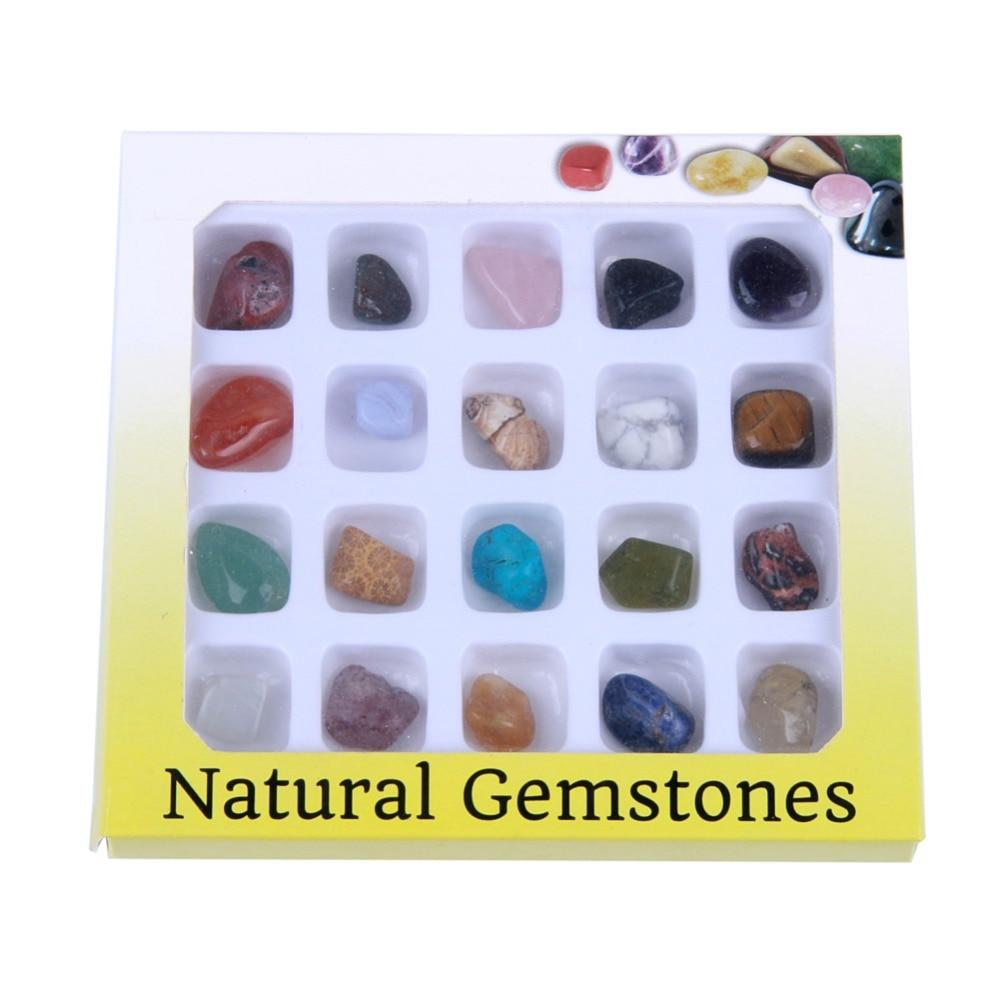 Yaye 20 шт./компл. природные кристаллы полированная Рейки Исцеление чакра tumbled Камни  ...