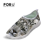 New Summer Style Men Mesh Shoes Breathable Animal Leopard Print Casual Shoes For Men Outdoor Flat
