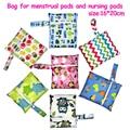 1pc 16*20cm waterproof reusable single pocket wet bag, menstrual pads bag, sanitary pads bag, nursing pads stroller 15 colors