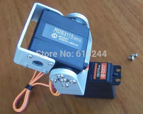 1 set 2 DOF métal FPV Simple et facile à utiliser plate-forme de caméra panoramique/inclinable pour avion FPV métal FPV (pas de servo) + livraison gratuite