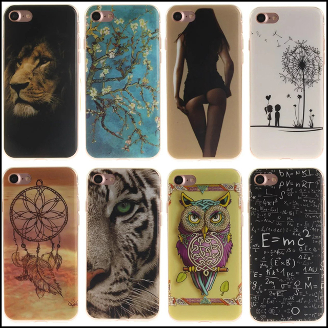 Coque Fundas for iphone 8 7 6s 6 Plus Cases Soft Cool Clear IMD telefoon hoesjes Cover for iphone X 5s 5 se 5c 4s 4 Tiger Case