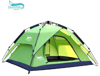 Desert Fox outdoor tent 3-4 person multiplayer automatic double layers against storm camping beach tent Build fast