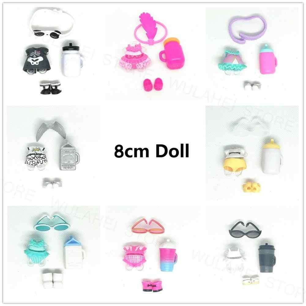 1 комплект куклы с аксессуарами, Оригинальная одежда, 8 см, серия Big Sister, 2, 3, 4, пластиковая детская кукла для девочек, виды самодельные игрушки подарки