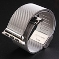 for Apple Watch iWatch 38mm 42mm Stainless Steel mesh Wrist loop Watchband Sport Edition + Watch Band Connector Adapter