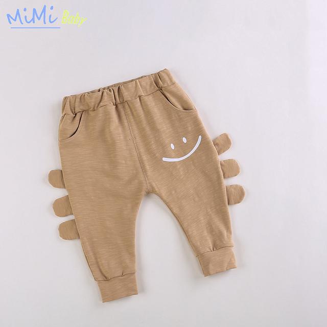 2017 Del Resorte Del Algodón Medias de Las Polainas del bebé Pantalones de Niño/niña Espesar Bebé Plushed Animales 3D Sonrisa Pantalones para Niños Infantiles ropa