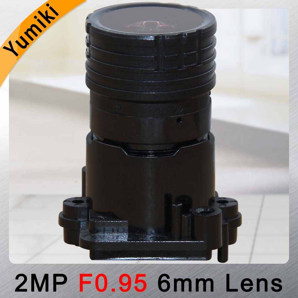 Yumiki F0.95 F1.0 6mm focal LENs 2MP 1/2.7 special for image sensor IMX327 , IMX307 , IMX290 , IMX291 camera PCB board module image