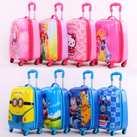 luggage bag hello kitty box wholesale custom made ABS PC pulley box for children, kindergarten, baby suitcase,
