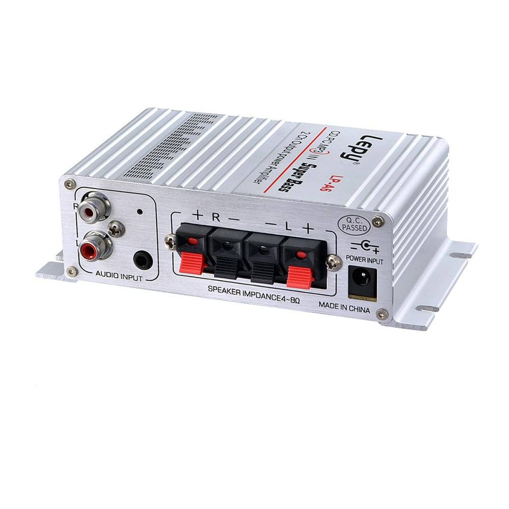Lepy Auto Moto MP3 MP4 Salut-fi Audio Stéréo Mini Amplificateur 12 V 2A