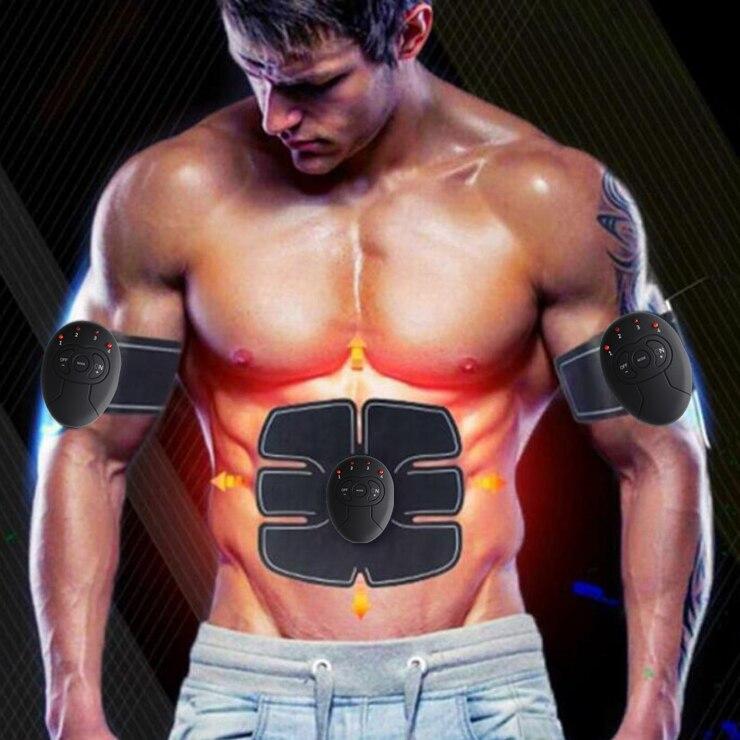 Máquina Abdominal estimulador muscular eléctrico ABS ems entrenador fitness pérdida de peso masaje adelgazante corporal con caja de venta al por menor suave