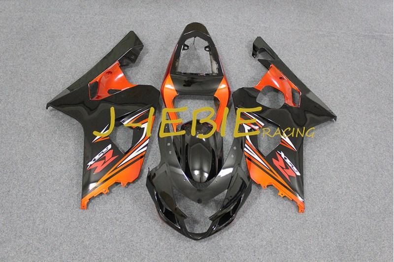 Black orange Injection Fairing Body Work Frame Kit for SUZUKI GSXR 600/750 GSXR600 GSXR750 2004 2005