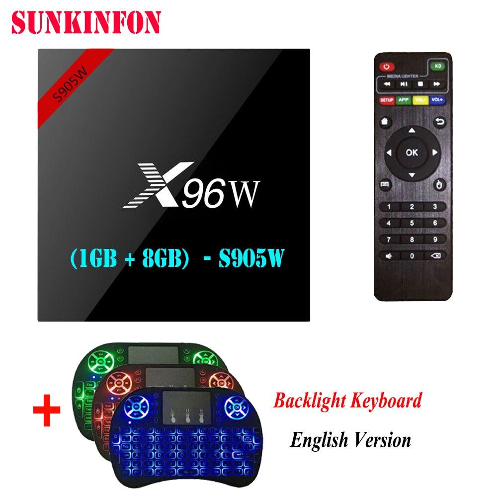 X96W Android 7.1.2 TV Box Amlogic S905W 1GB 8GB Quad Core WIFI HDMI 4K HD Smart Set Top Box Media Player PK X96 A95X H96 T95Z стоимость
