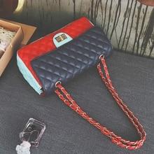 Bag 2016 new chain elegant girl color hit Europe and United States wild clutch small shoulder bag ladies messenger bag handbag