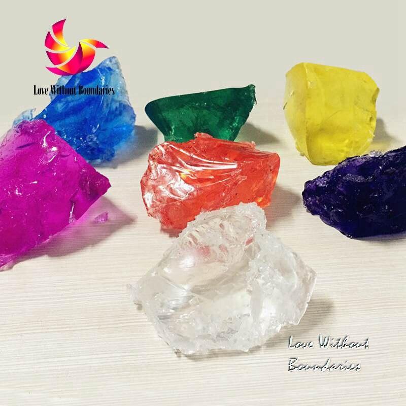 Želé vosk vysoce kvalitní surovina voskové svíčky Transparentní gely, Voskové křišťálové materiály, nejedovatý 7 barev 800g velkoobchod