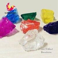 Materia prima di cera di candela, gelatina di cera, trasparente gel, cera materiali di cristallo, non velenoso, profumo, 6 colori, 1 kg all'ingrosso