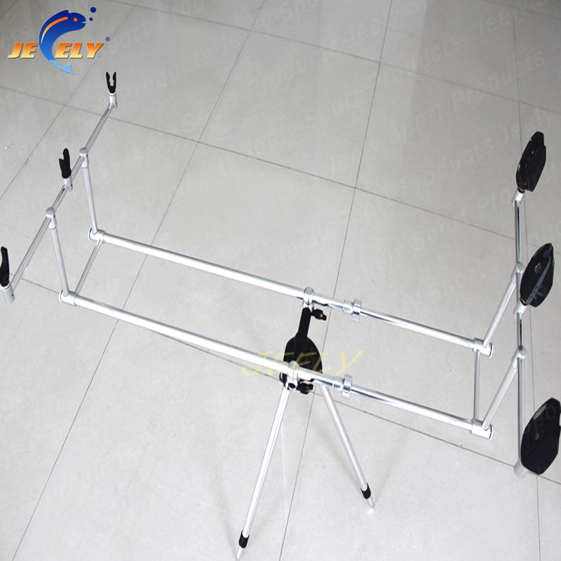 Free Shipping Europe Popular JY112-1 Aluminum Carp Fishing bite alarm Rod pod for 3rod 3 ...