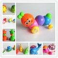 Una pieza clásica cadena de juguete de bebé winding cadena de juguete para niños de diapositivas de animales de los niños de Wind Up marvel juguetes para los niños