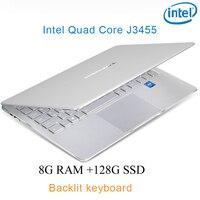"""ram 128g כסף P9-17 8G RAM 128g SSD Intel Celeron J3455 20"""" מחשב שולחני מחברת משחקים ניידת עם מקלדת מוארת (1)"""