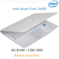 P9 17 silver 8G RAM 128G SSD Intel Celeron J3455 20 Gaming laptop notebook desktop computer with Backlit keyboard