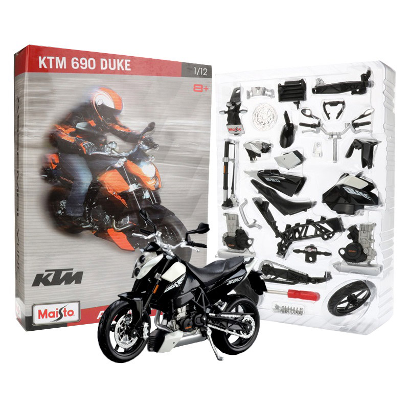 Maisto 1:12 assembly motorcycle toy alloy ktm 690 duke motor bicycle model accessories building kits vehicle toys for kids gift
