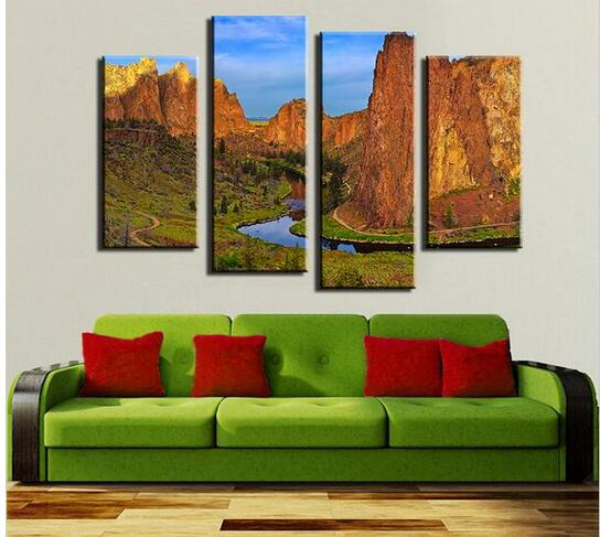 Living Room For Sale: Sale Paintings Wall Pictures For Living Room 4 Panel