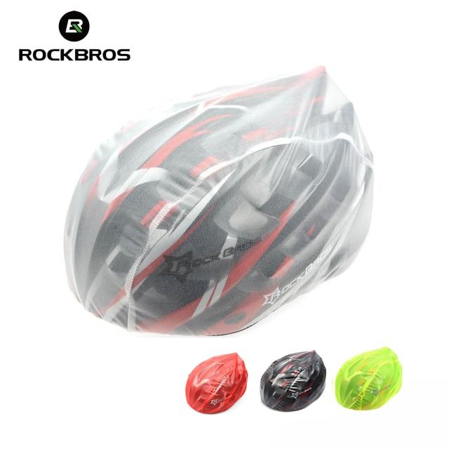Rockbros Cycling Helmet Covers Ultralight Waterproof Dust proof Bike Bicycle Helmet Rain Covers Cubierta De Casco 4 Colors