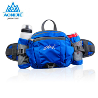 AONIJIE Multifunction Nylon Sport Waist Bag Outdoor Running Hiking Bicycle Big Storage Money Pouch Fanny Pack with Bottle Holder