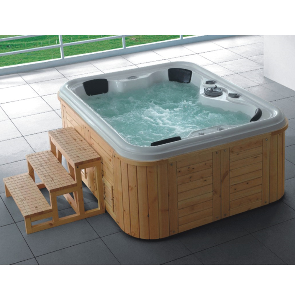 Large outdoor spa pool air jet outdoor swim pool spa hot tub on ...