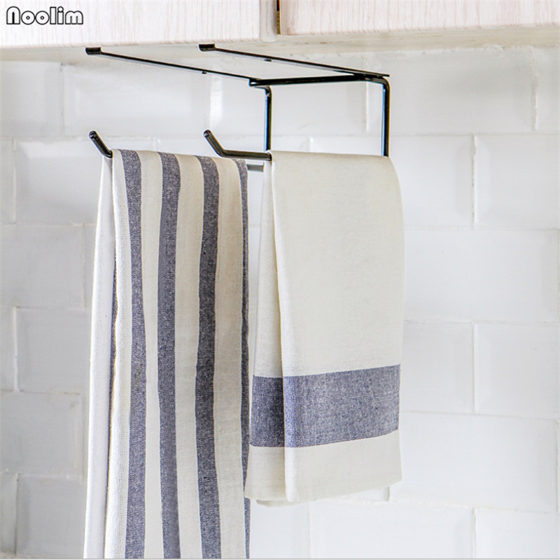 Kitchen Cabinet Storage Shelf Kitchen Cabinet Roll Paper Towel Holder Bathroom Toilet Hanging Rack Stainless Steel Organizer