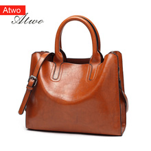 ATWO Women's Handbag flap pu Leather totes  shoulder messenger bag fashion мото bag studded pu flap bag