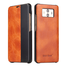 Precio al por mayor negocio barato para Huawei Mate 10 Pro / Mate10 Flip cubierta de cuero inteligente Sleep Smart Phone Case View Window