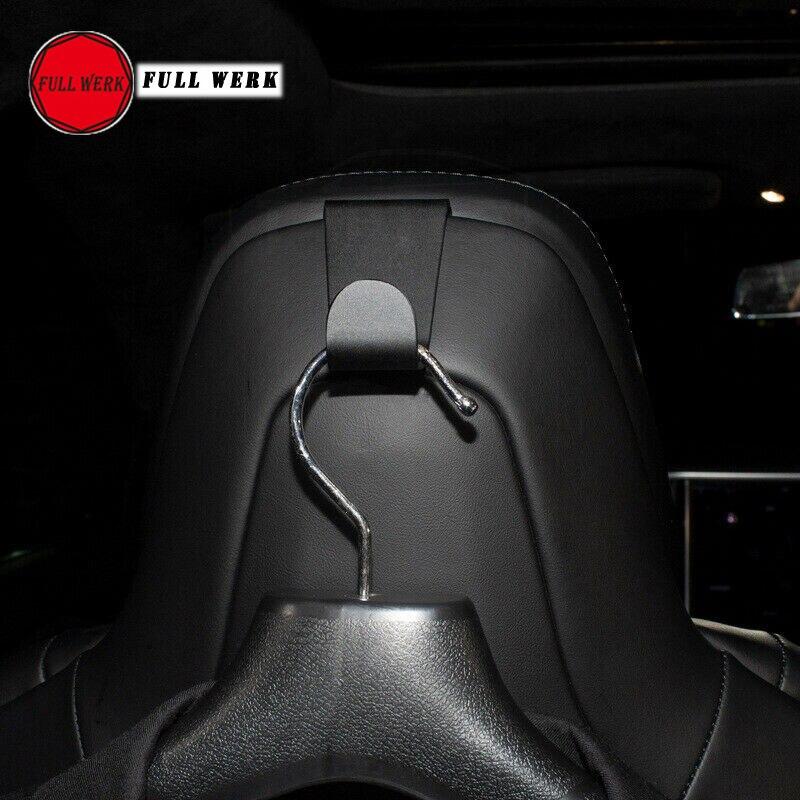 2x Schwarz Aluminum Alloy Auto Haken Halter Aufhänger passt für Tesla Model S X