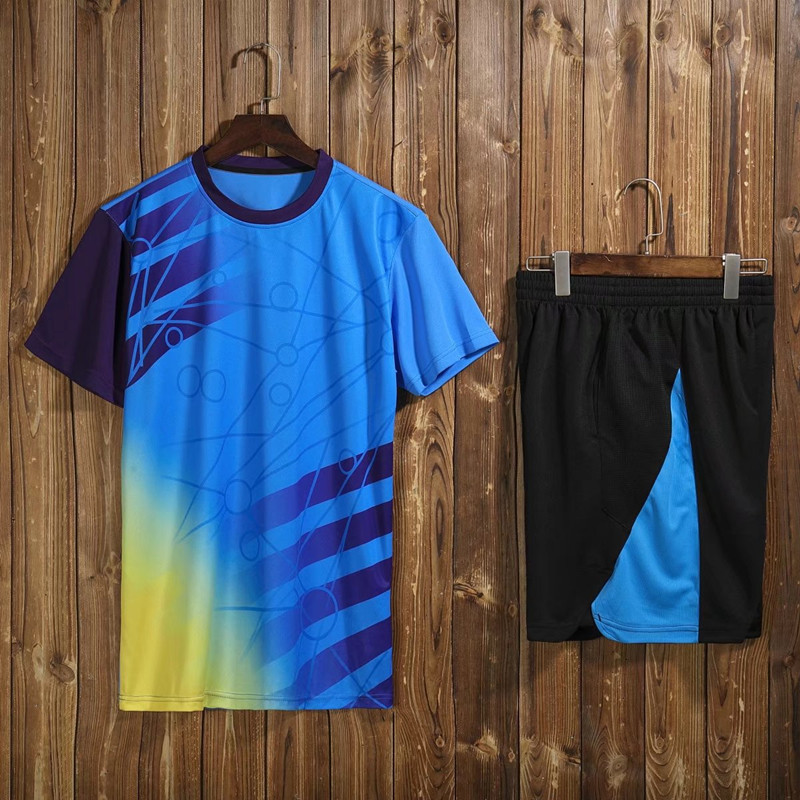 Настольный теннис майки, бадминтон, трикотажные, теннис футболки, быстрое высыхание пинг-понг школа Рубашки, мужская спортивная Шорты одежд...