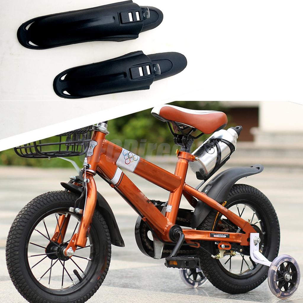 Bicycle Mudguards Front and Rear Fender Set Tire Cleaner for 12/14/16 inch Kids Children Bike