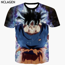 NCLAGEN Men Short Sleeve 3D T Shirts Dragon Ball Z Super Ultra Instinct Son Goku Vegeta Print Cartoon T-Shirt Top Tee Plus Size