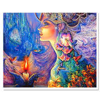 2017  hot sale 5d diy diamond embroidery  modern resin paintings scenic handmade home decoration full square