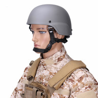 Military Helmet Mich 2000 Army Tactical Paintball Wargame Helmets ABS Plastic Head Protector Equipment Accessories