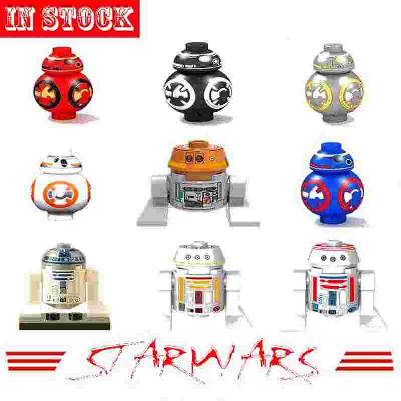 Mailackers Blocks Toys & Hobbies Star Wars Figures R2D2 Robot Sith R2-D2 BB8 Trooper Soldier Starwars Weapon Building Block Kits